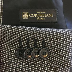 Corneliani Virgin Wool Black Sport Coat Sz 44L